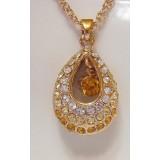 Pandantiv fantezie placat cu aur 14 K si cristale
